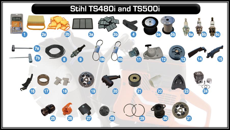 aftermarket parts for stihl ts480i and stihl ts500i