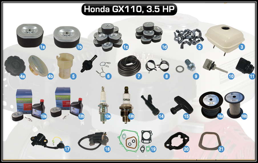 aftermarket parts for honda gx110, accesories for honda lawn mowers