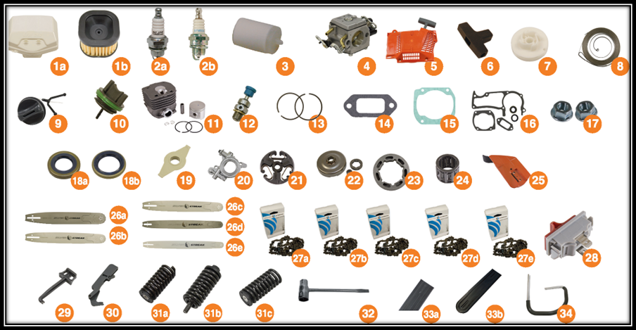 Replacement Parts for Husqvarna 362, 371 and 372 | Small