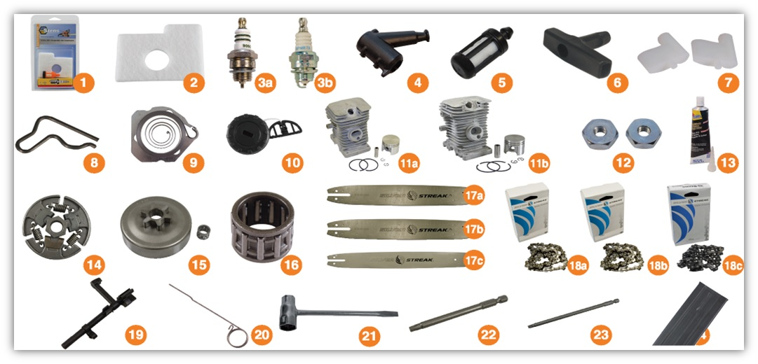 replacement parts for STIHL 017, STIHL 018, STIHL MS170, STIHL MS180 - STIHL Homeowner Chainsaw
