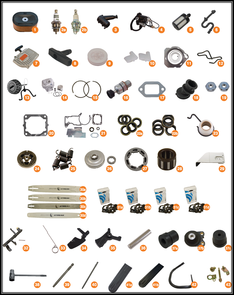 stihl 044, stihl ms440, aftermarket parts