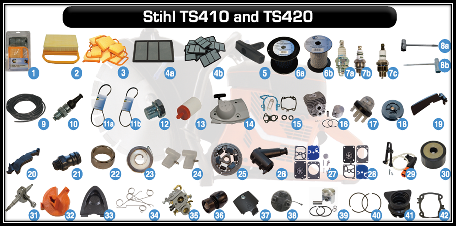 aftermarket parts for stihl ts410 and stihl ts420 - stihl cut-off machine