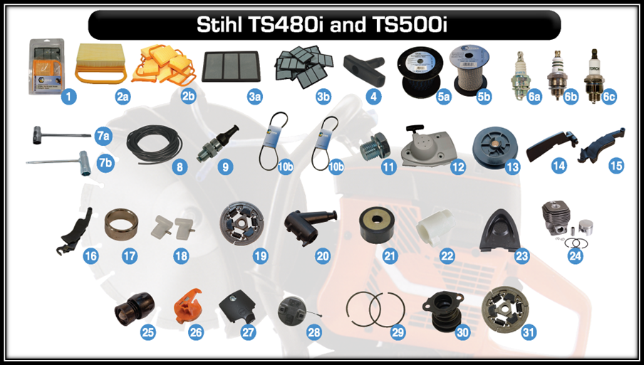 aftermarket parts for stihl ts480i and stihl ts500i