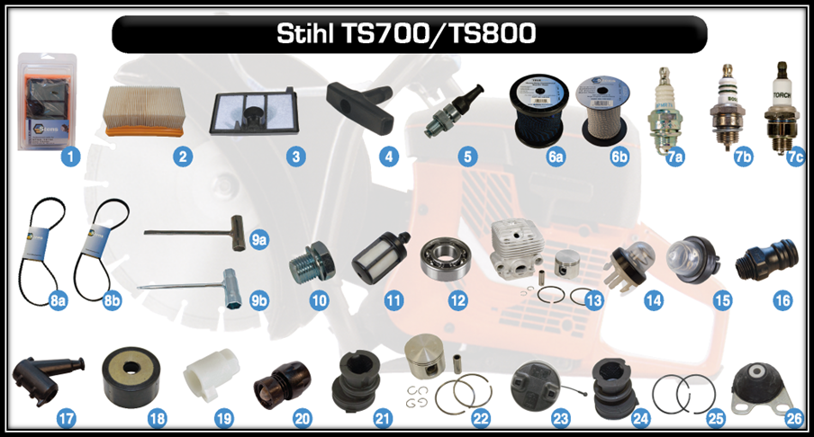 replacement parts for stihl ts700 and stihl ts800