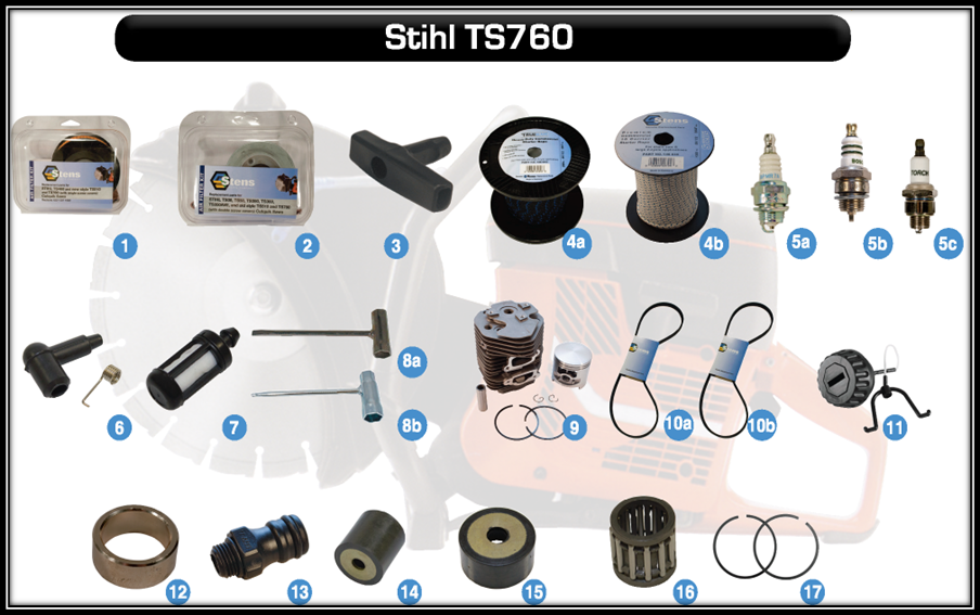 high quality aftermarket parts for power tools such as STIHL TS760